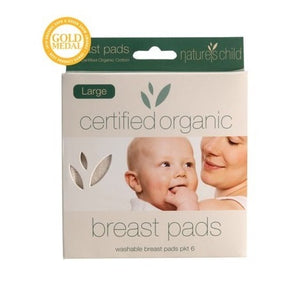 Nature's Child Organic Large Washable Breast Pads 6 pack
