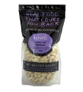 Honest To Goodness Almonds Blanched Whole (Insecticide Free) 500g