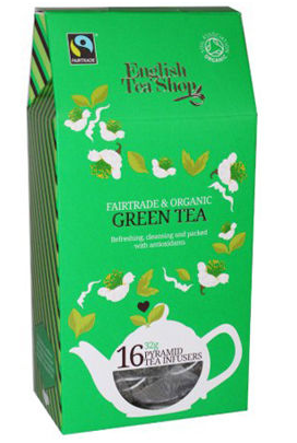 English Tea Shop Organic Green Tea Pyramids 16pc