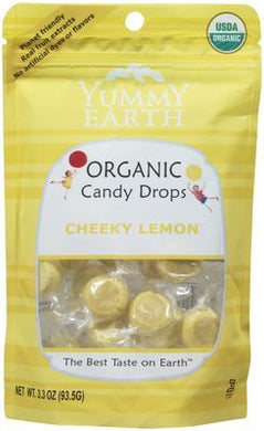 Yummy Earth Organic Cheeky Lemon Drops 93g