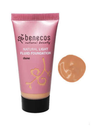 Benecos Natural Light Fluid Foundation - Dune (30ml)