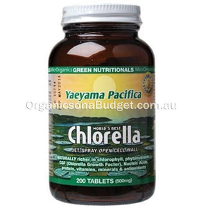 Green Nutritionals Chlorella (500mg) 200 Tabs