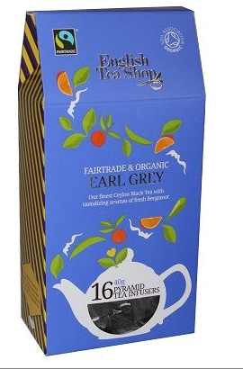 English Tea Shop Organic Earl Grey Pyramids 16pc
