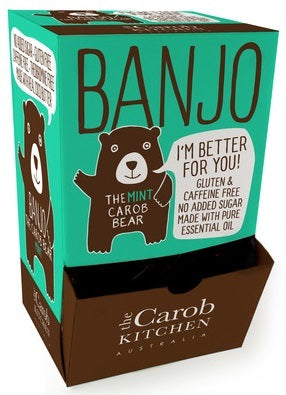 The Carob Kitchen Banjo Mint Carob Bear 50x15