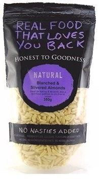 Honest To Goodness Blanched & Slivered Almonds 350g