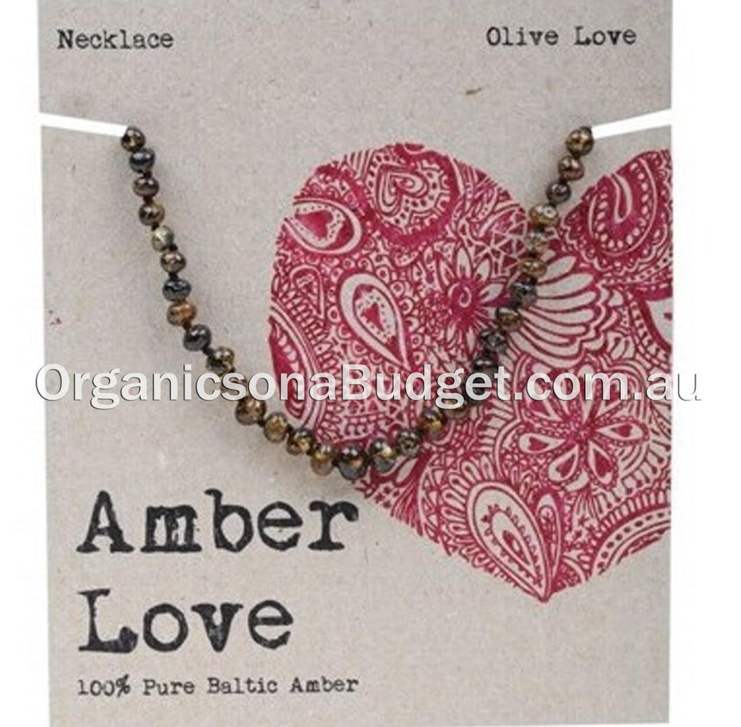 Amber Love Olive Amber Necklace 33cm (FREE SHIPPING)