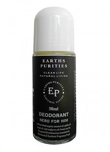 Earths Purities For Him Nero Roll on Deodorant 50g