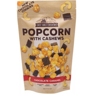 EAST BALI CASHEWS Chocolate Caramel Popcorn with Cashews - 90g