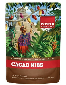 Power Super Foods Organic Cacao Nibs 250g