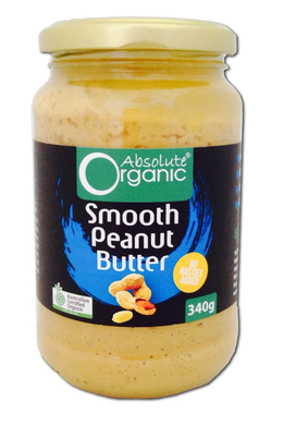 Absolute Organic Smooth Peanut Butter 340g