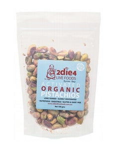 "2die4 Live Foods Activated Organic Australian Pistachios Grade ""A"" 100g"