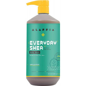Alaffia Everyday Shea Vanilla Mint Body Wash 950ml