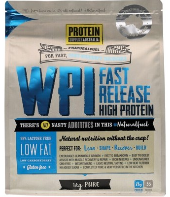 Protein Supplies Australia Whey Protein Isolate 1kg