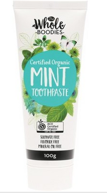 The Whole Boodies Toothpaste Mint - 100g