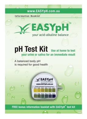 EASYpH Test Paper + booklet (FREE SHIPPING)