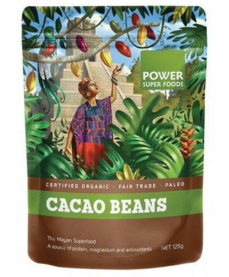 Power Super Foods Organic Cacao Beans 125g