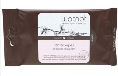 Wotnot Facial Wipes For Oily Sensitive Skin x 5