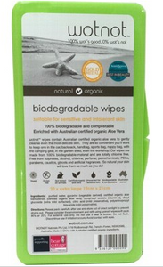 Wotnot Travel Wipes - 100% Biodegradable x20