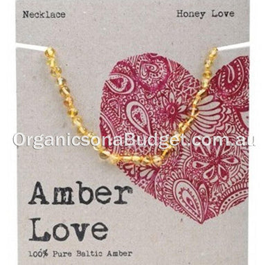 Amber Love Honey Amber Necklace 33cm