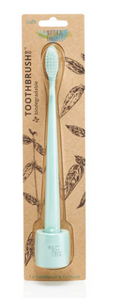 The Natural Family Co. Bio Toothbrush & Stand Soft - River Mint