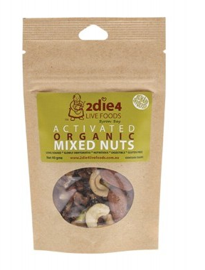 2die4 Live Foods Activated Organic Mixed Nuts - 40g