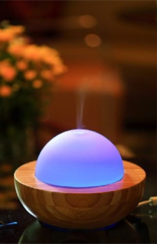 Essentials in a Box Bamboo 5 in 1 Diffuser Humidifier Ioniser Air Purifier Lamp PREORDER