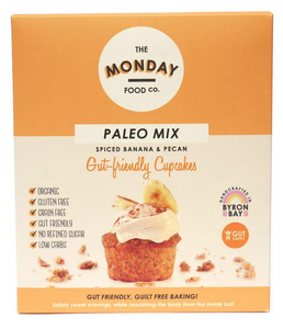 Monday Food. Co Paleo Mix Cupcakes - Spiced Banana & Pecan 300g