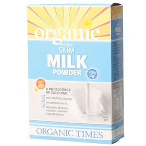 Organic Times Skim Milk Powder 350g