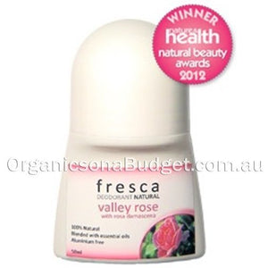 Fresca Natural Valley Rose Deodorant Roll-On 50ml