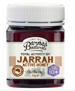 BARNES NATURALS Jarrah Active Honey TA 10+ 250g