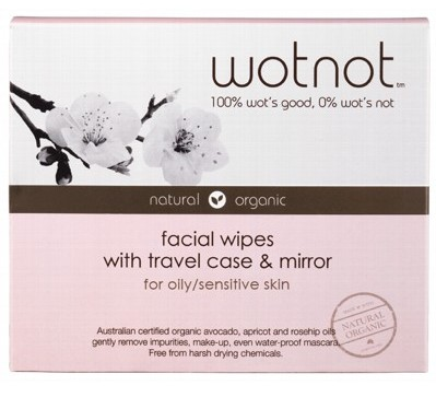 Wotnot Facial Wipes For Oily Sensitive Skin x 25 (Travel Case)
