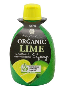 Chef's Choice Organic Lime Squeeze 125ml