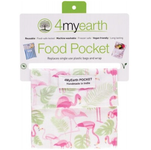 4MyEarth Food Pocket - Flamingoes  -14x14cm - 1