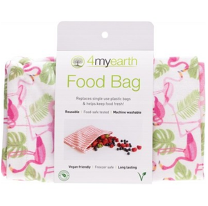4MyEarth Food Bag Flamingoes - 25x20cm - 1