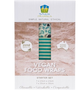 The Family Hub Organics Vegan Food Wraps - Starter Set 2 Pack