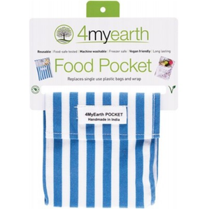 4MyEarth Food Pocket - Denim Stripe -14x14cm - 1