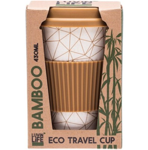 Luvin Life Bamboo Travel Cup 430ml - Geo Design