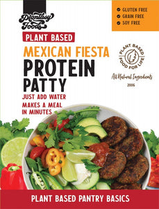THE GLUTEN FREE FOOD CO. Protein Patty Mix - Mexican Fiesta 200g
