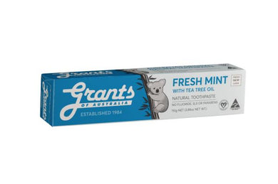 Grants Toothpaste Fresh Mint with Tea Tree Oil 110g