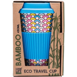 Luvin Life Bamboo Travel Cup 430ml - Hoops Design