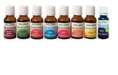 Hopper Natural Food Colouring 8 Pack