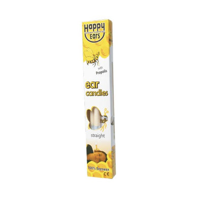 Happy Ears Ear Candles 100% Beeswax - Straight - 2 pack