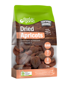 Absolute Organic Dried Apricots 250g
