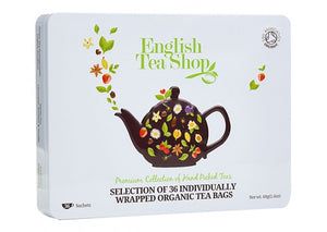 English Tea Shop Organic Premium Collection White Tin 36 sachets