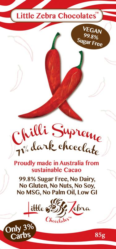 Little Zebra Chocolates - Chilli Supreme Dark Chocolate - 85g