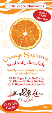 Little Zebra Chocolates - Orange Supreme Dark Chocolate - 85g