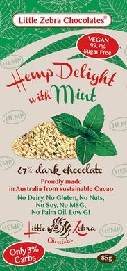 Little Zebra Chocolates Hemp Delight - Dark Chocolate Mint 85g