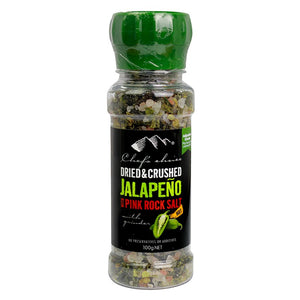 Chef's Choice Dried & Crushed Jalapeno with Pink Rock Salt 100G
