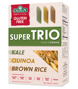 Orgran Super Trio Penne Brown Rice Quinoa & Kale 250g