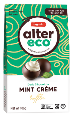 Alter Eco Organic Mint Truffles - Dark Chocolate 108g